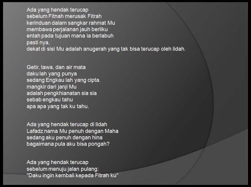 Cerita Puisi Empat Bait Puisi Doa Cerita Medan