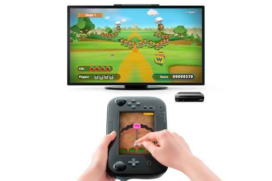 Using Wii U GamePad to shoot arrows at targets on TV in Game & Wario
