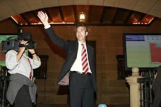 Josu Urrutia momentos después de ser nombrado presidente del Athletic Club