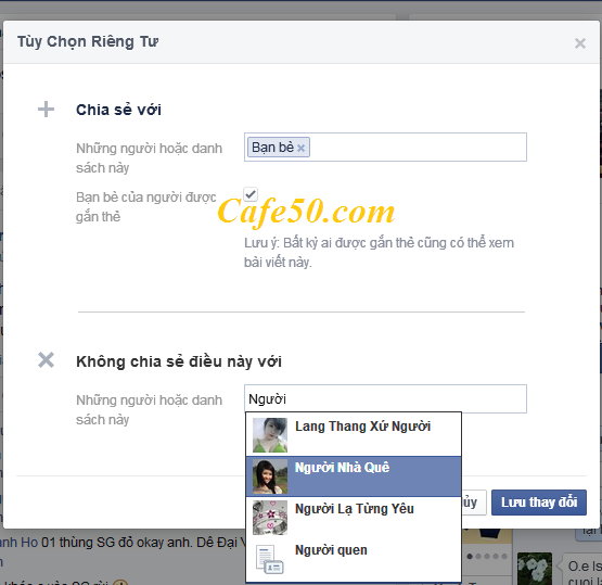 Tùy chỉnh ẩn - hiện trạng thái trên Facebook - Stt FB