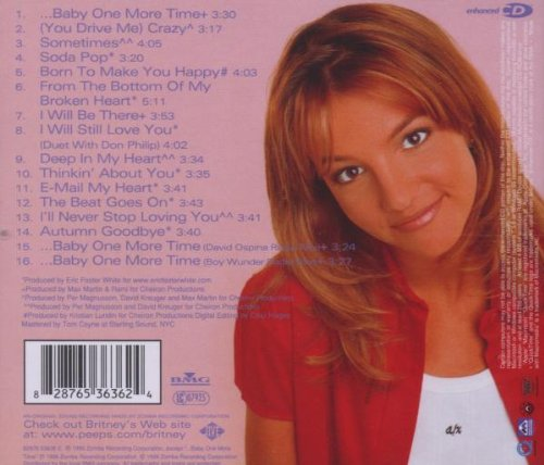Britney Spears Baby One More Time Album PhotoesBritney Spears Baby One More Time Album Cover