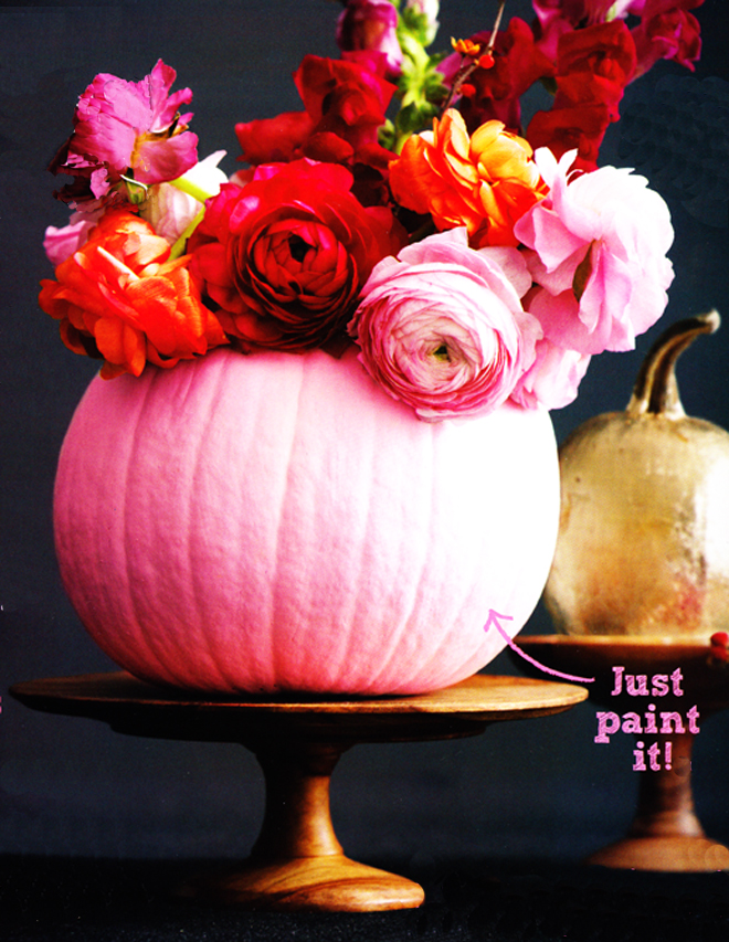 Diy pretty painted pumpkins poppytalk Flower painted pumpkins