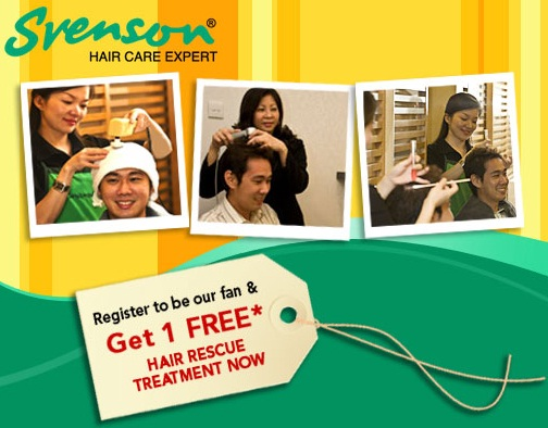 Svenson Malaysia Free Hair Treatment become Fan