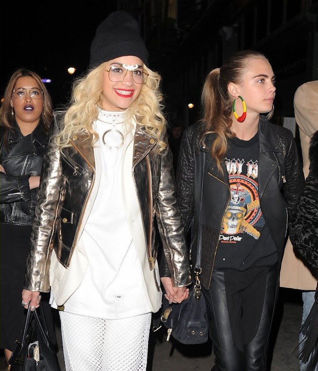 Rita Ora e sua namorada Cara Delevingne (Foto: Getty Images)