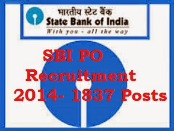 sbi-po-recruitment-2014-1837 posts of probationary officers