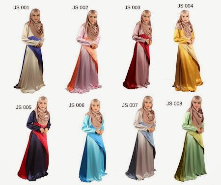 Dress Satin Sakura Tampak Mewah Dengan 8 Pilihn Warna Menawan
