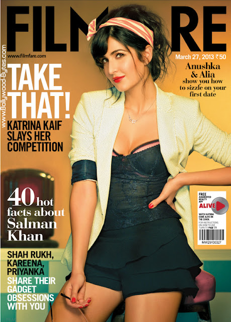 Super Hot Katrina Kaif Cover Filmfare 27, March 2013