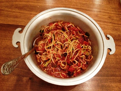 Zucchini Spaghetti Puttanesca