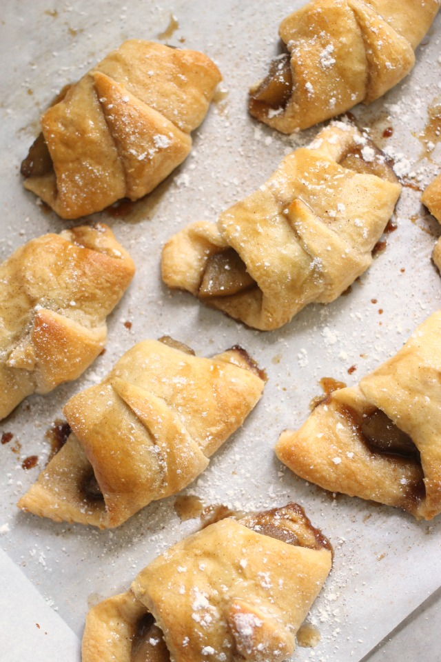 Brown Sugar Cream Cheese Apple Crescents