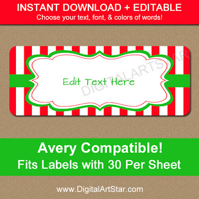 editable christmas gift labels