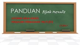 PANDUAN MENULIS KK PP 2015