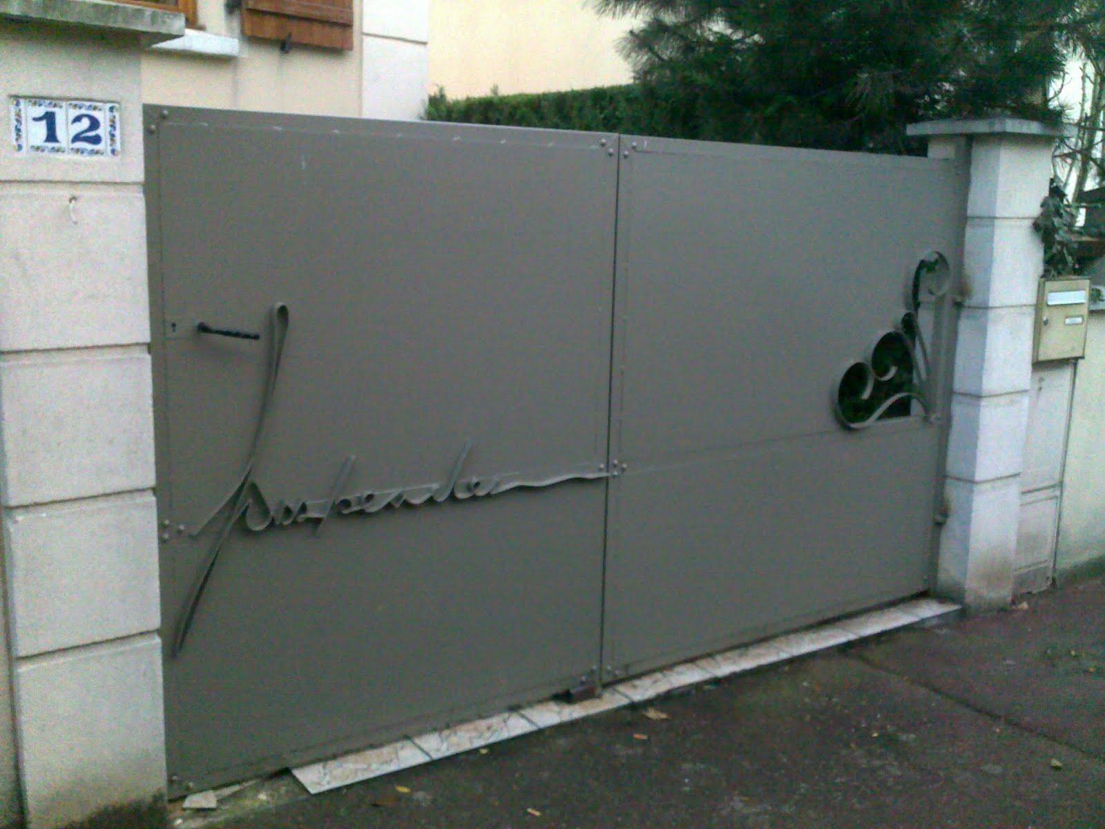 Ferronnerie Le Fur Fabrication d'un portail (Pavillons sous Bois, 93) # Fabrication D Un Portail En Bois