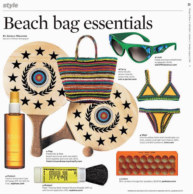 Chicago Tribune's beach bag essentials by Jessica Moazami