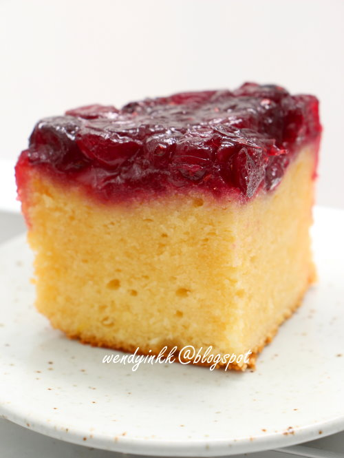 cranberry upside down cake by wendyinkk topping 240gm cranberries ...