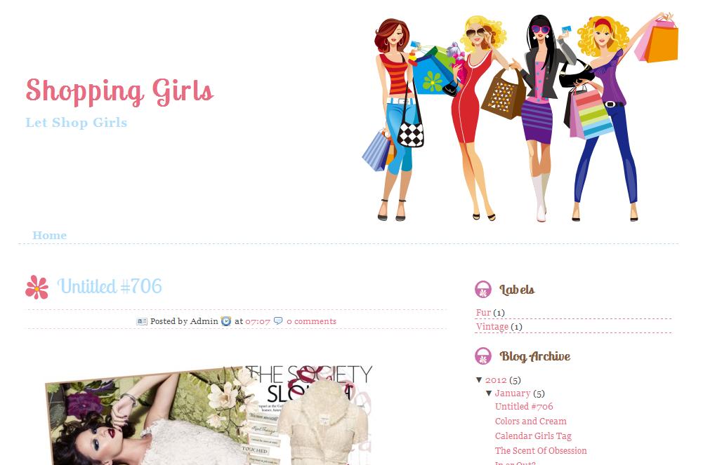 ... Girls Blog Template | Ipietoon-Cute Blog