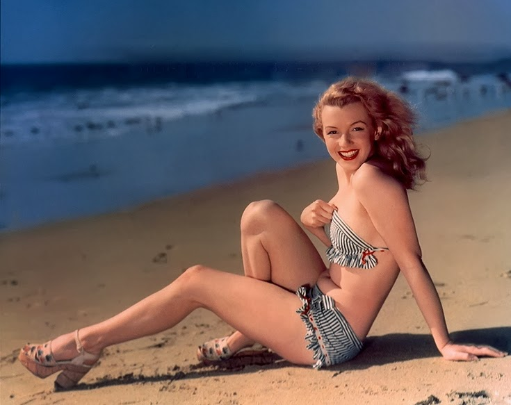 Young Marilyn Monroe 1948 Beach Beauty