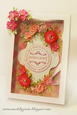 kartka harmonijkowa kartka dla nauczyciela kartki okolicznościowe handmade scrapbooking