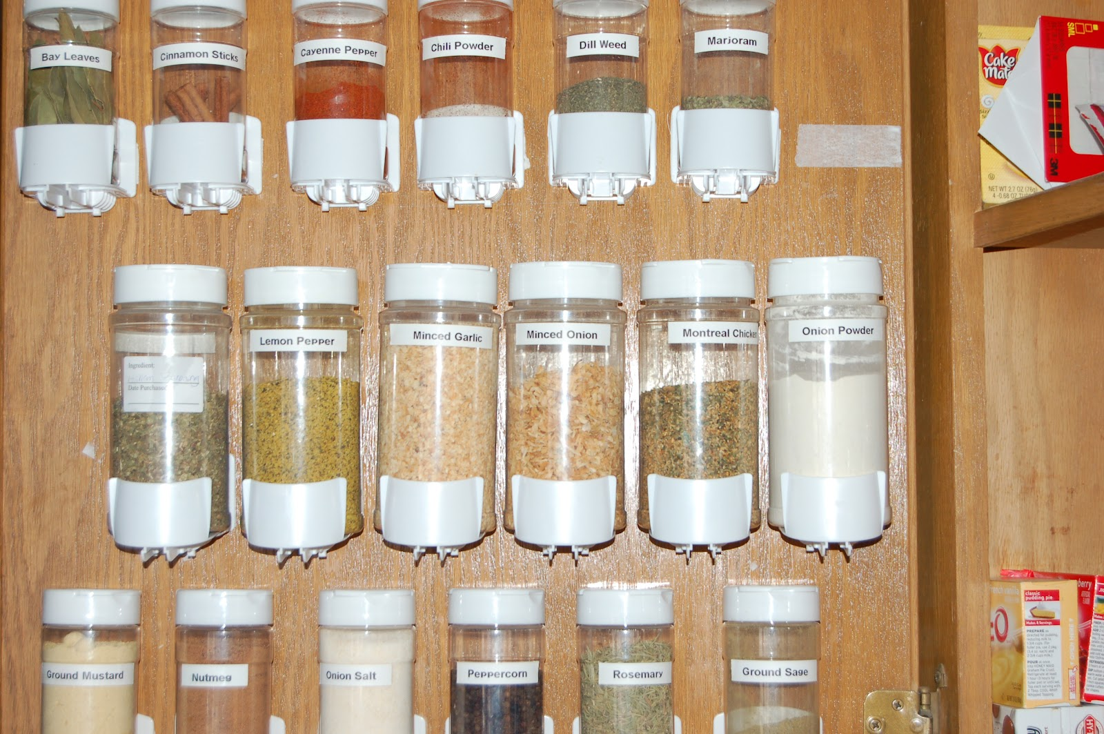 My year living on food storage storing spices for Kitchen jar ideas