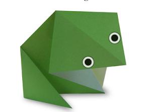 Una rana de papel