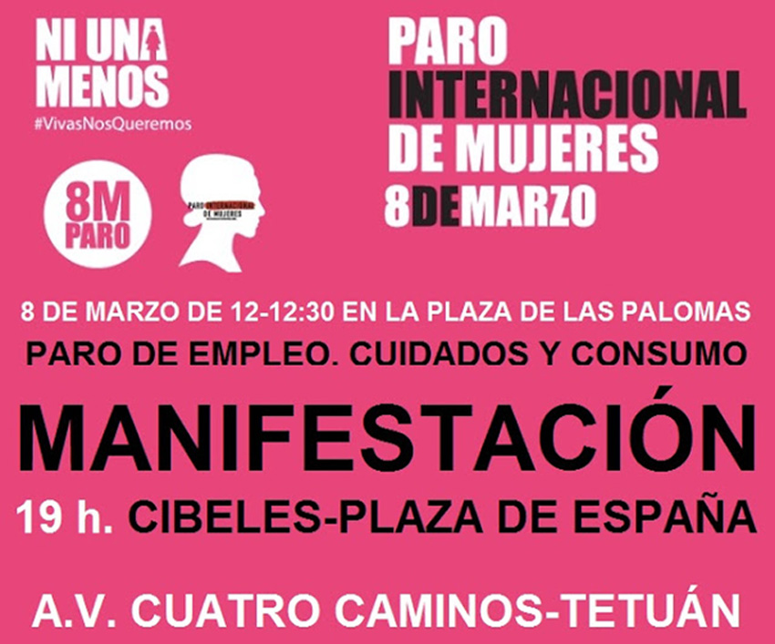 8 de marzo manifestación