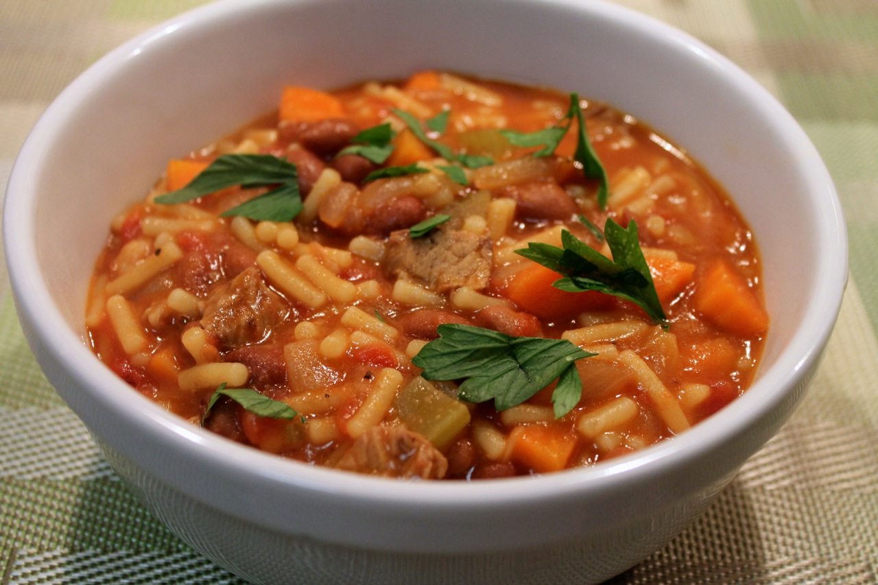 Pasta E Fagioli Soup (Italian Pasta And Bean Soup) Recipes ...