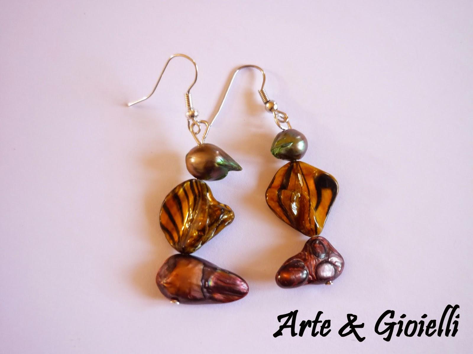 Arte gioielli orecchini in perle di fiume for Siti cinesi gioielli