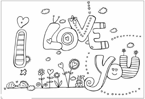 Desenhos para Colorir do Dia dos Namorados Imagens