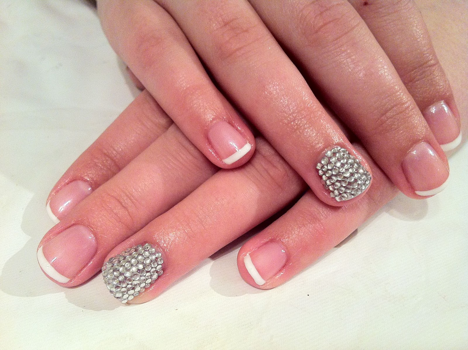 Brush up and Polish up!: CND Shellac Nail Art - French, French & more