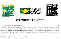 Certificado 4º Encontro