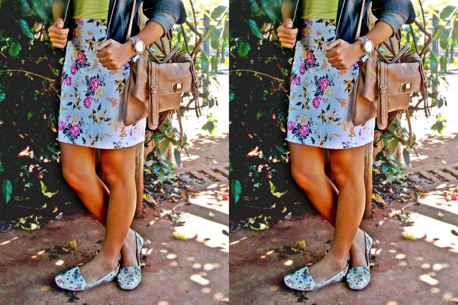 blog Gleikka, look Gleikka, look do dia, look outono, outono inverno 2014, saia floral, look colorido, mistura de estampas, mocassim estampado, repetindo roupas, look confortável e fashion