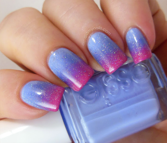 Sleeping Beauty gradient manicure