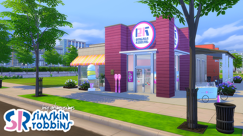 My Sims 4 Blog: DunkSim Donuts and Simskin Robbins Lot and ...