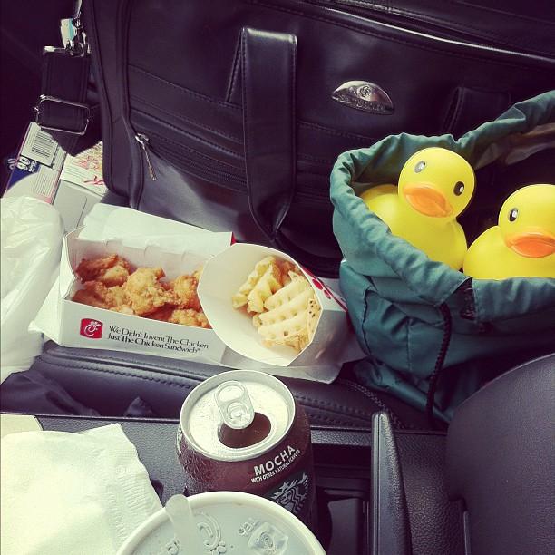 Starbucks Chick-Fil-A Rubber Duckies