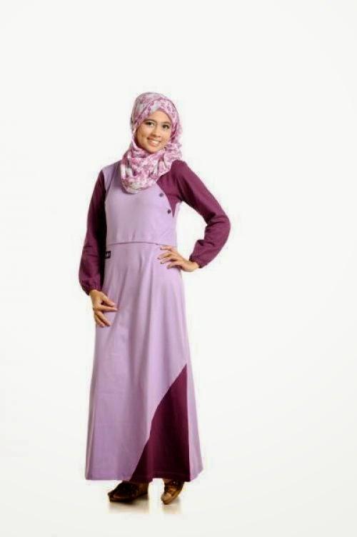 Contoh Model Gamis Kaos Trendy Cantik Inspirasi Baju