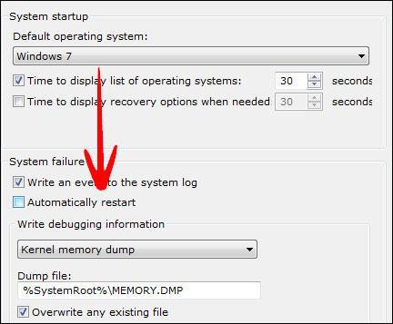 System Startup Option