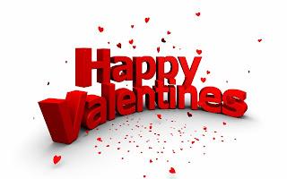 mensaje de san valentin con corazones