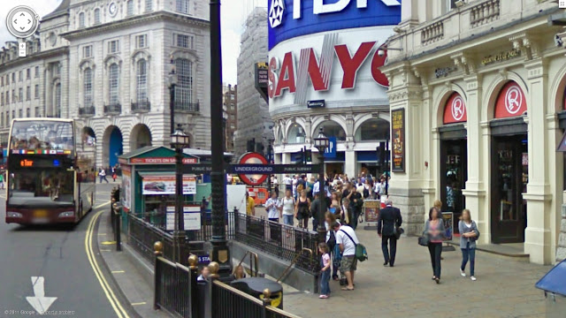 Piccadilly Circus station on the Bakerloo line of the London Underground