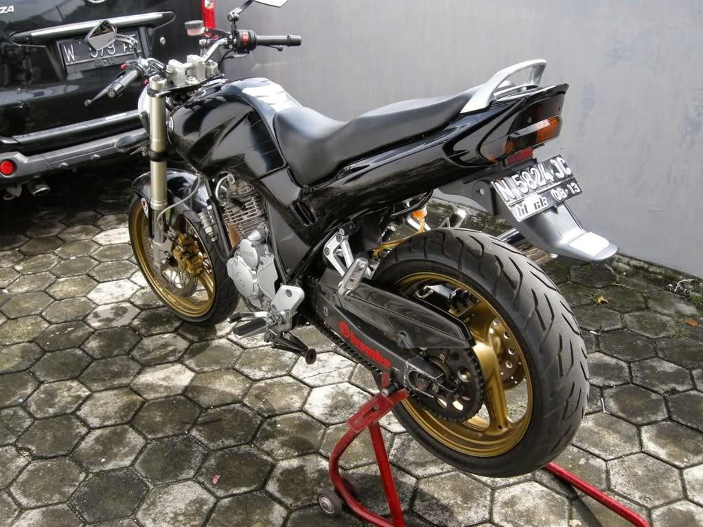 modifikasi motor yahama scorpio ban besar