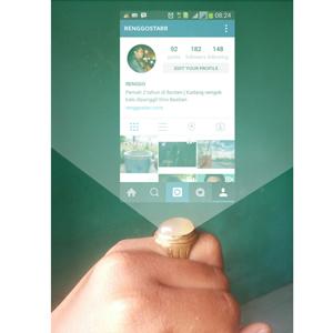 akik, instagram in hand lucu