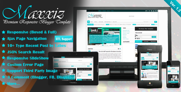 Maxxiz Blogger Template Themeforest