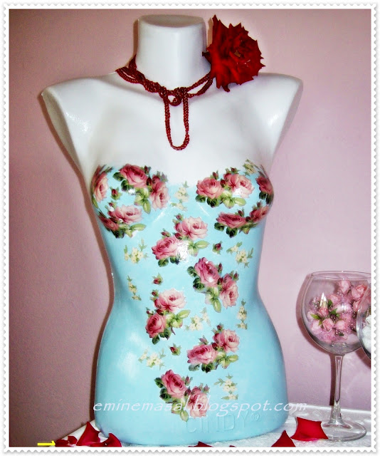 dress form decoupage,diy dress form