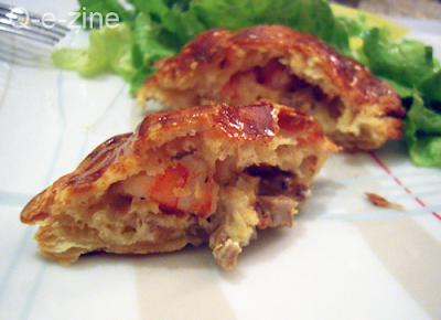 feuilleté crevettes et champignons