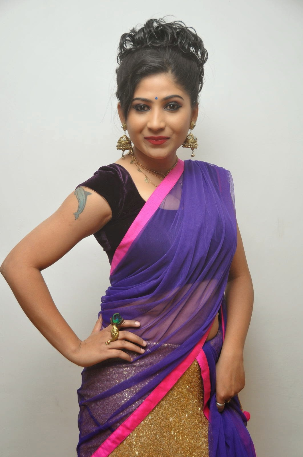 Madhulagna Das Half Saree photos-HQ-Photo-13