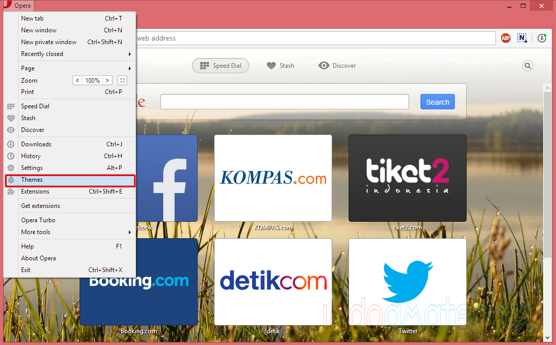 Mengganti Theme Default Opera Browse 2r