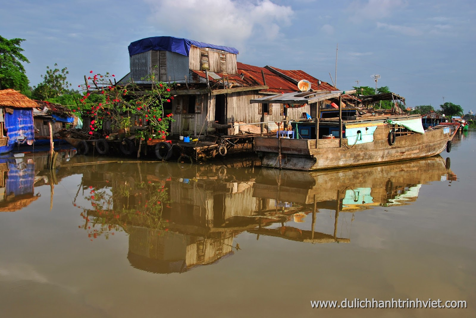 Village flottant de Long Xuyen