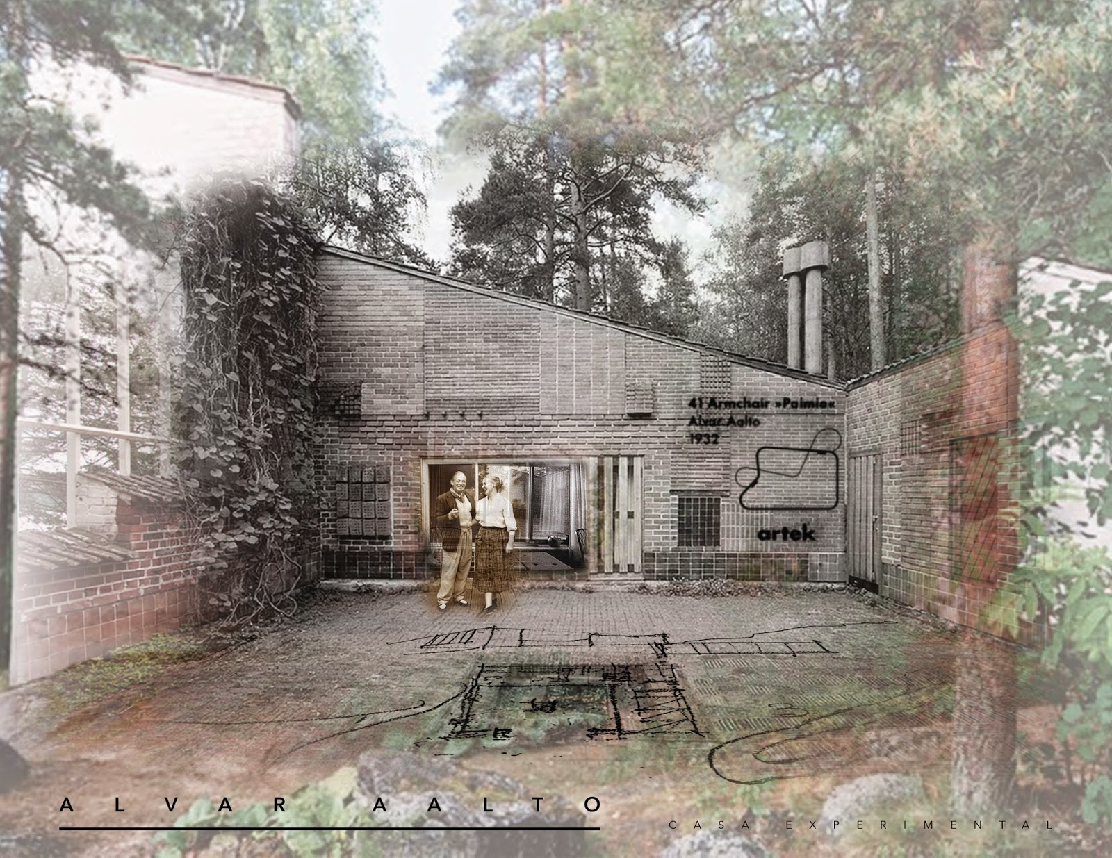 Historia de la arquitectura moderna casa aalto muuratsalo for Historia de la arquitectura moderna