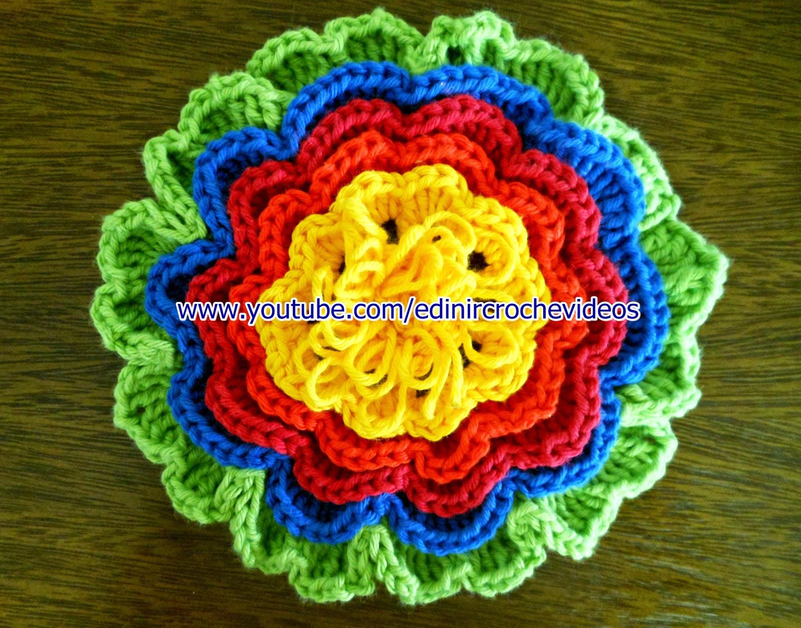 aprender croche flores folhas goma endurecer dvd decoração curso de croche edinir-croche