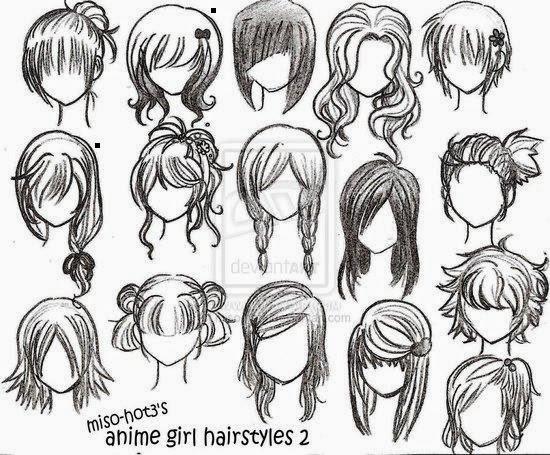 desenhos para imprimir estilos de cabelos