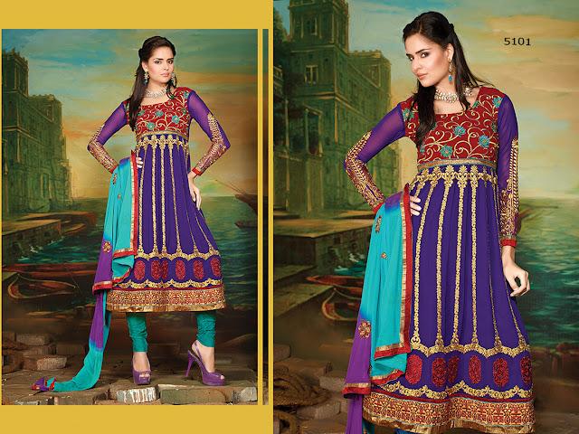 Attractive Stylish Anarkali Salwar Kameez – Shop Online Anarkali Salwar Suits Collection at Wholesale Prices