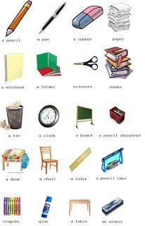 Nama Nama Benda Di Kelas Dalam Bahasa Inggris